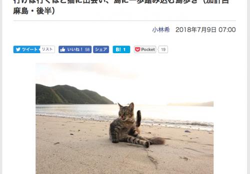 【加計呂麻島・後半】デジカメWatch掲載「カメラ旅女の全国ネコ島めぐり」公開しました