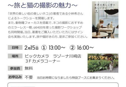 【イベント】2/15  「世界の美しい街の美しいネコ」トークショー&カメラワークショップ開催