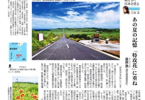【本日8/7売り】産経新聞で連載中「島を歩く、日本を見る」